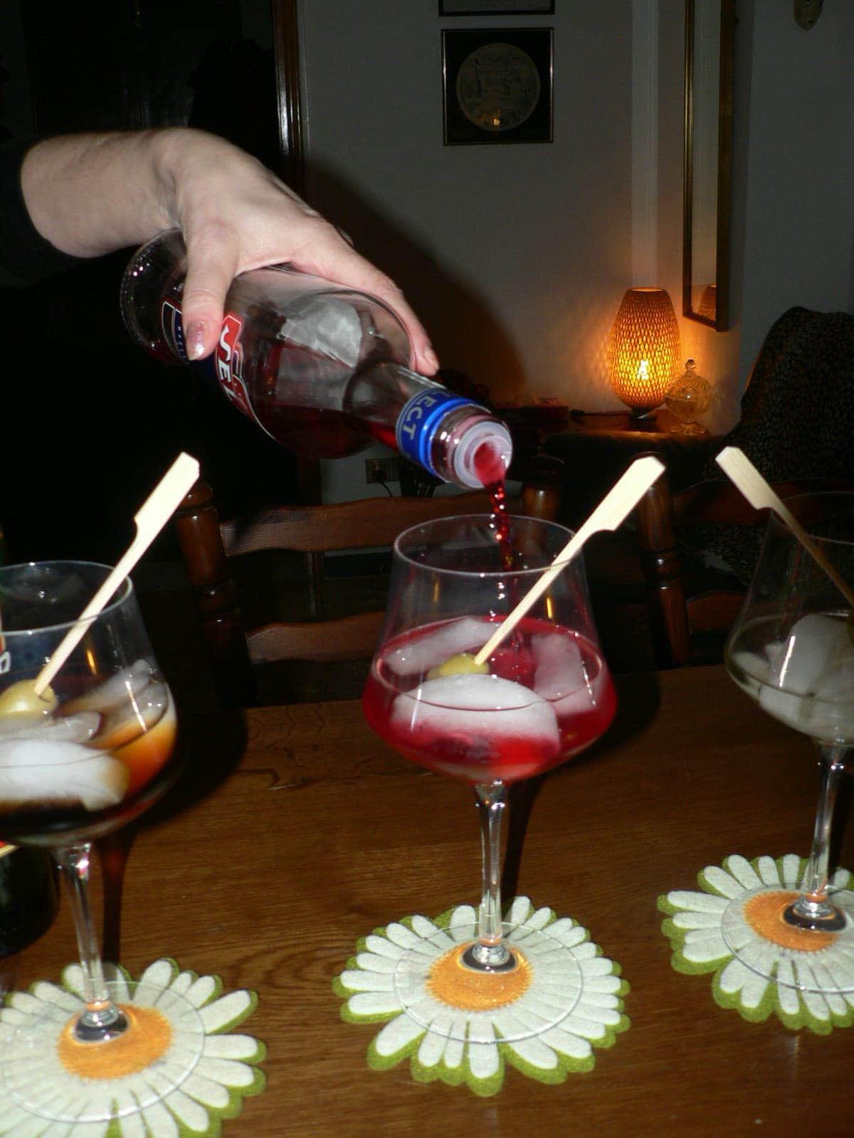 verre de vin blanc traduction italien