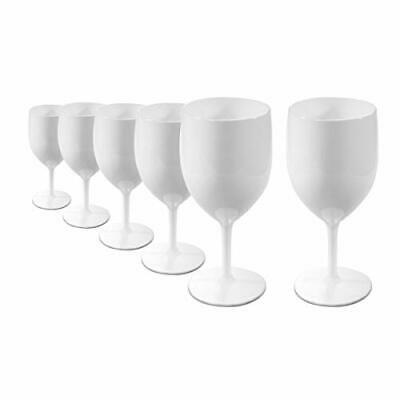 verre vin polycarbonate blanc