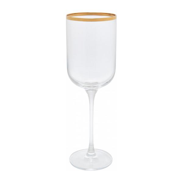 verre à vin or