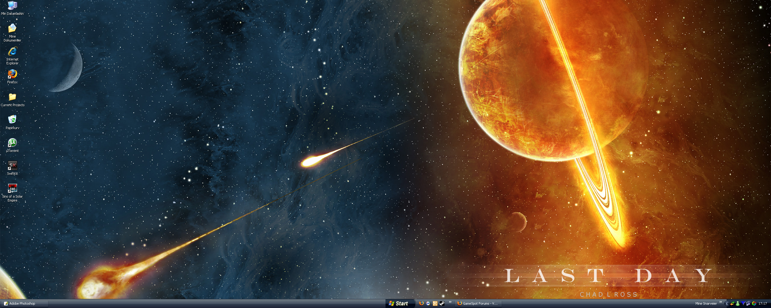If any of you know any good sites with Dual Monitor Wallpapers please let me