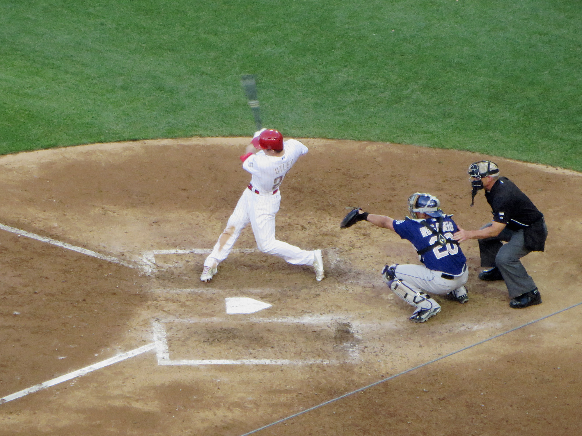 Citizens bank park cook sons baseball adventures and on that swing the ball is long gone from the frame so youll have to take my word for it utley smacked an rbi double to rf off of our pre game ccuart Images