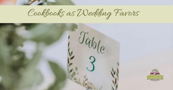 Cookbooks as Wedding Favors