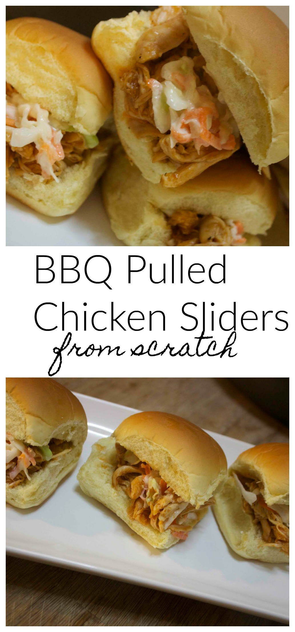 Homemade BBQ Pulled Chicken Sliders | Video & Recipe from Cooked By Julie