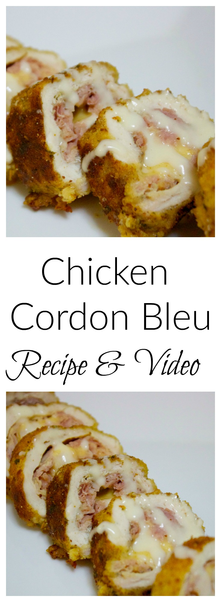 Easy Chicken Cordon Bleu recipe with video from Cooked By Julie
