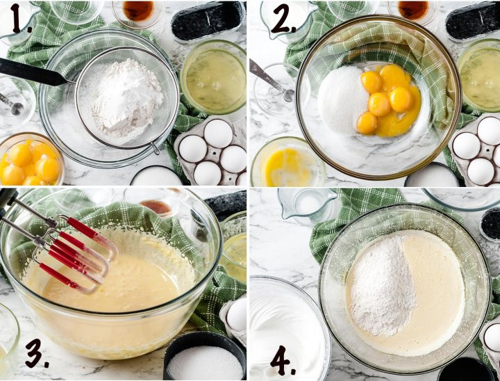 tres leches cake step by step recipe collage
