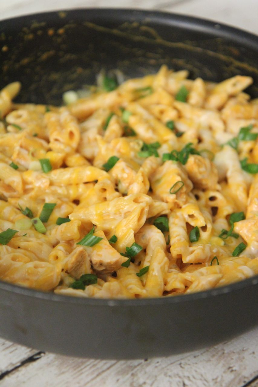 This take on pasta has all the great things in Buffalo Chicken combines with the comfort food feeling of pasta.