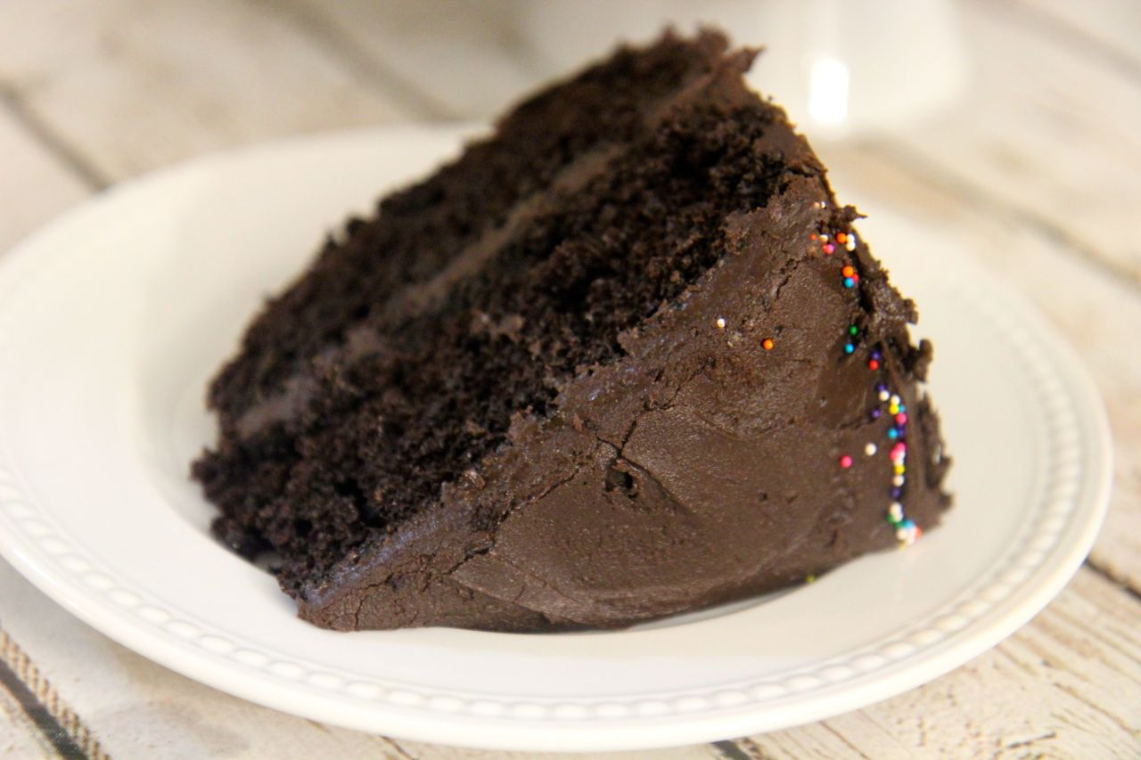 Chocolate Fudge Cake | Cooked by Julie