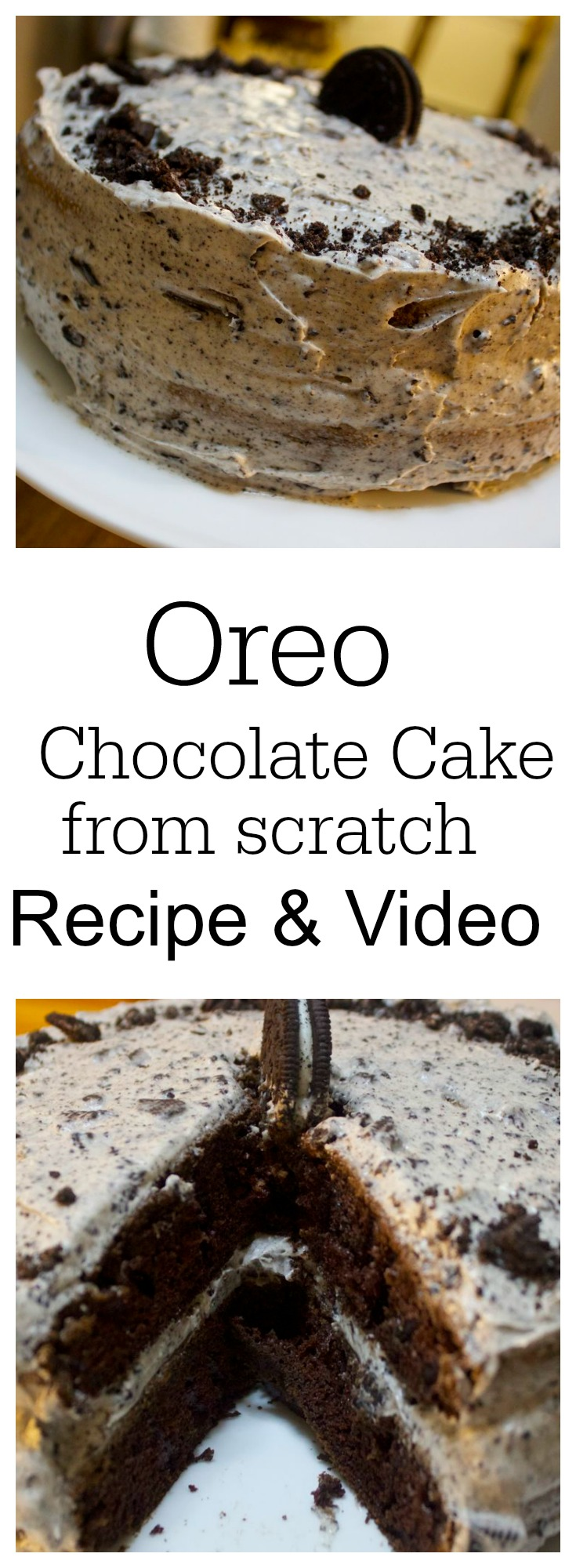 Chocolate Oreo Cake from Scratch by Cooked By Julie
