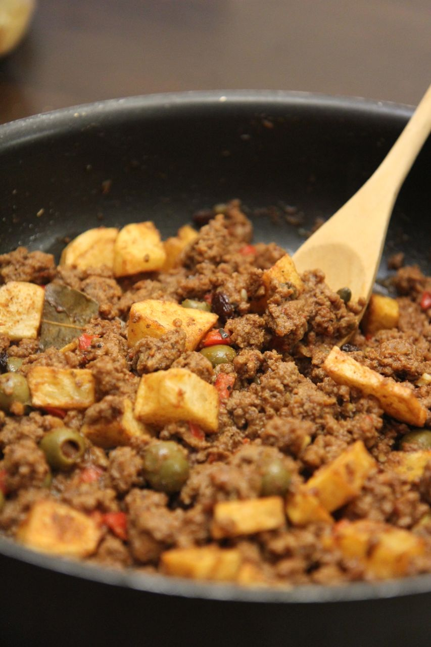 Picadillo Cubano Con Papas Cooked By Julie