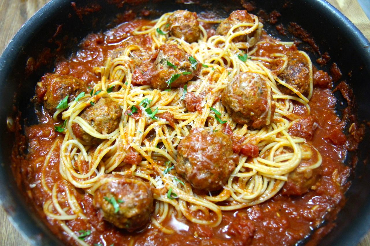 Try this take on traditional spaghetti and meatballs!