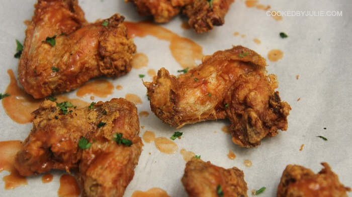 A little sauce and a little heat gives these chicken wings additional flavor