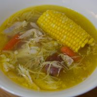 Cuban Chicken Noodle Soup