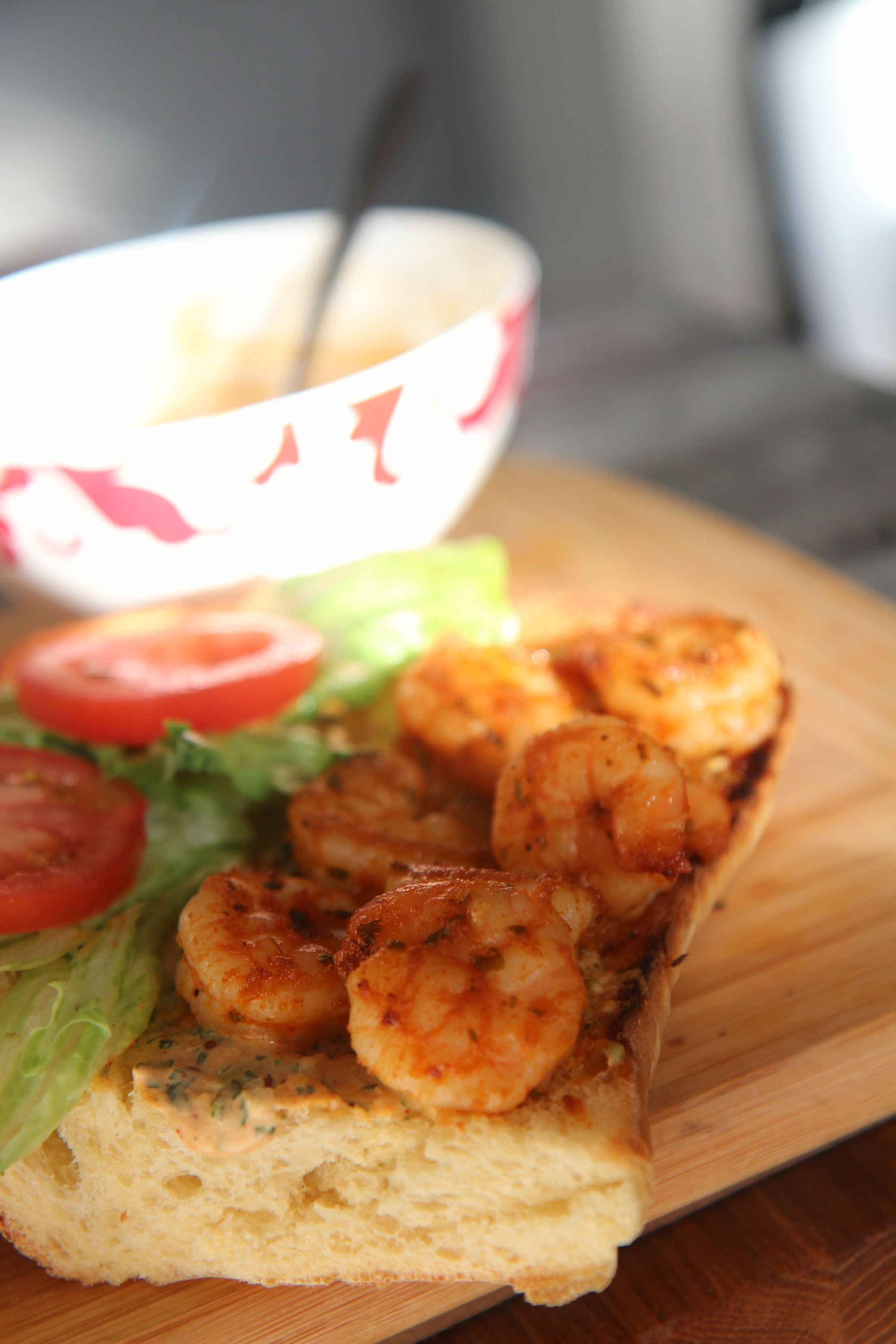 The shrimp are the star of the show.