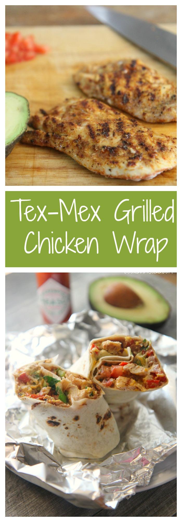 Tex-Mex Grilled Chicken Wrap Recipe