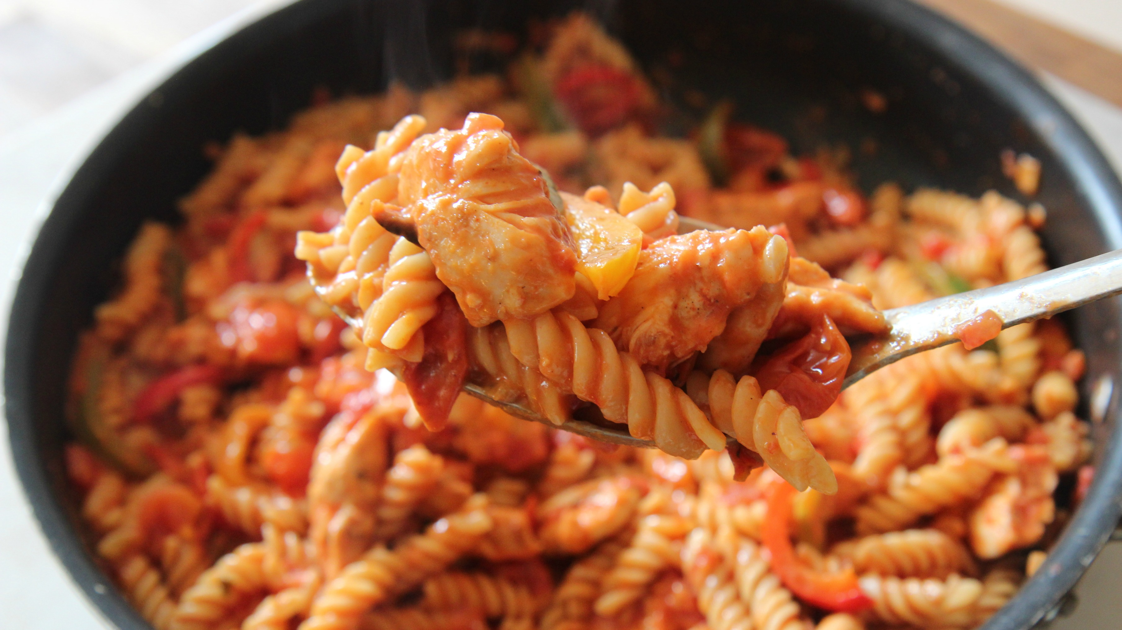 Packed with Tex-Mex flavor, this chicken fajita pasta recipe is sure to pack a punch.