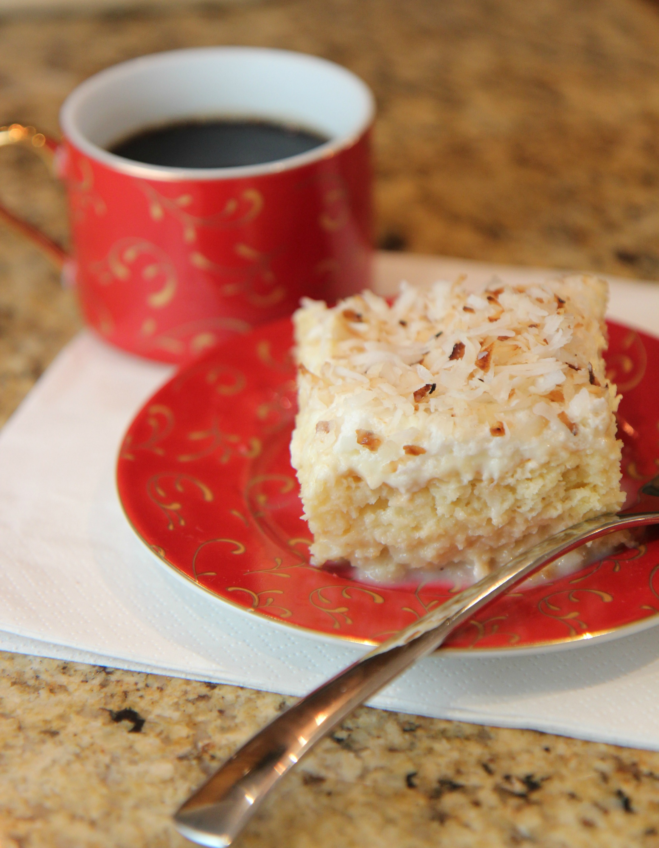 Coconut Tres Leches Cake | Cooked by Julie