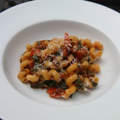 Pancetta and Spinach Pasta