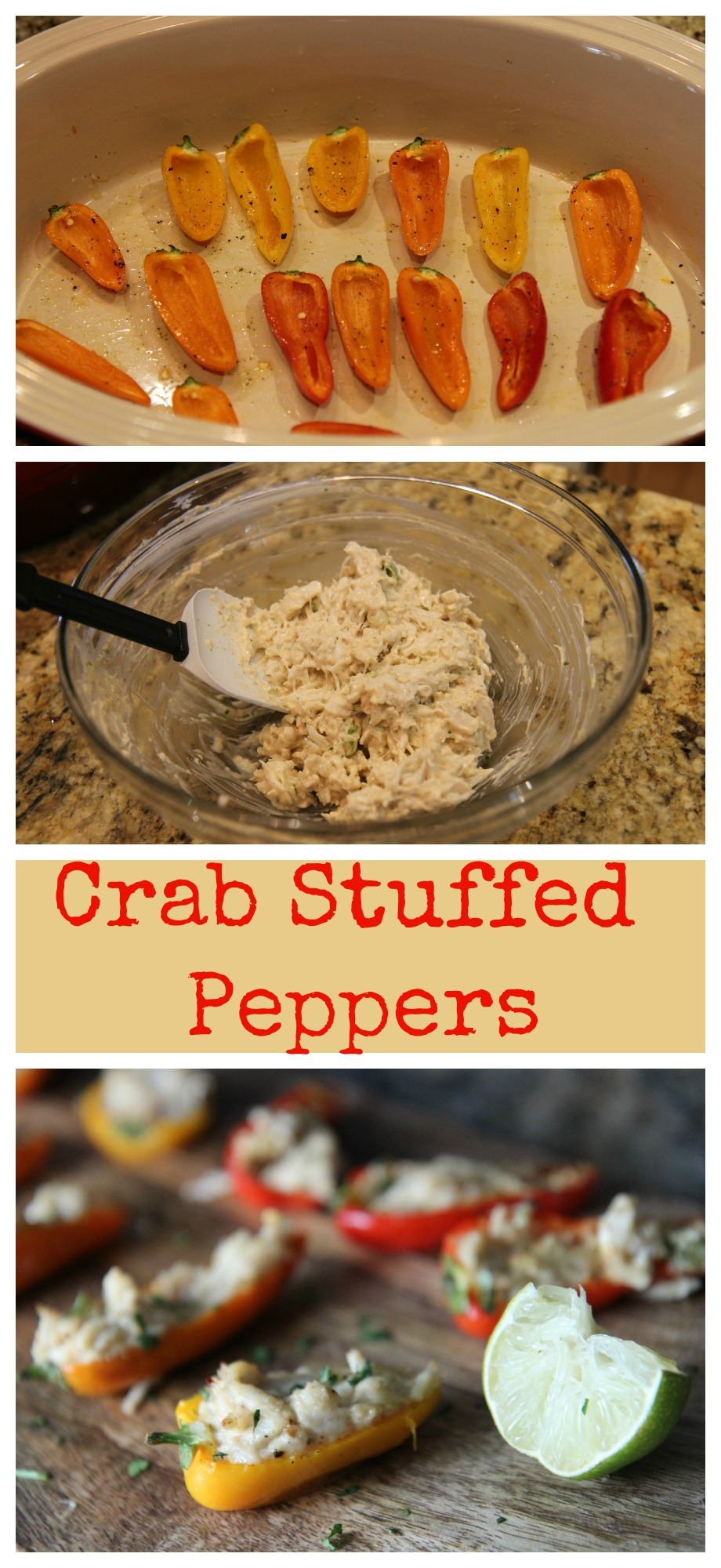 Learn how to make these Crab Stuffed Peppers at CookedbyJulie.com