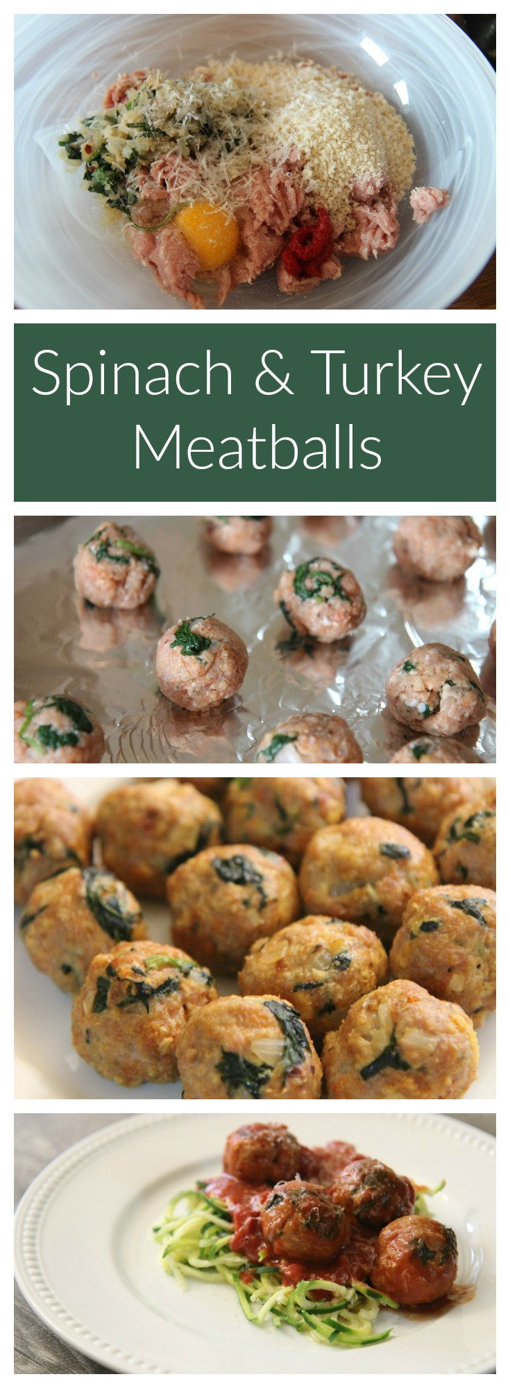 Spinach and Turkey Meatballs   Cooked by Julie