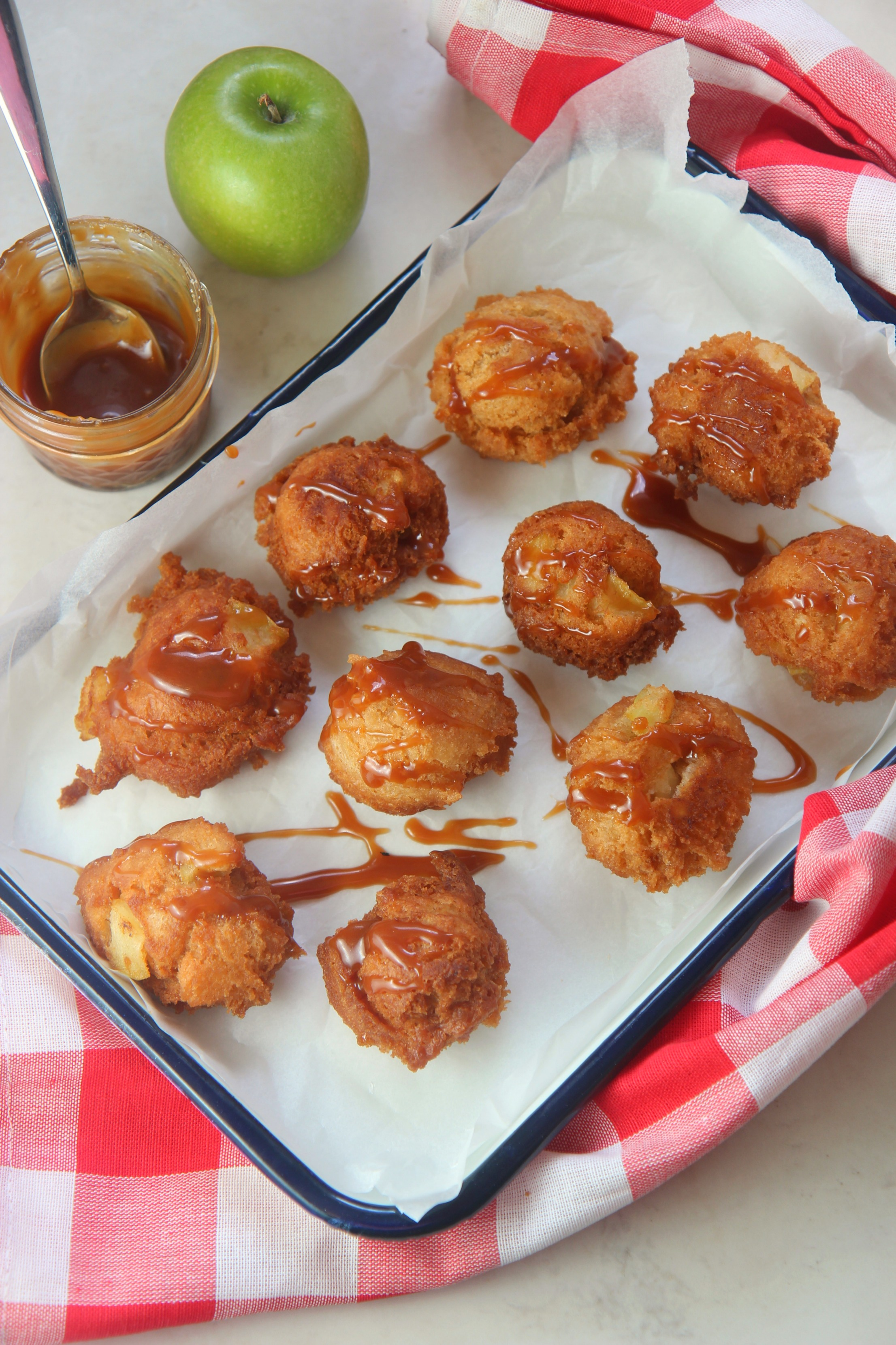 These deep fried apple fritters are a perfect fall treat