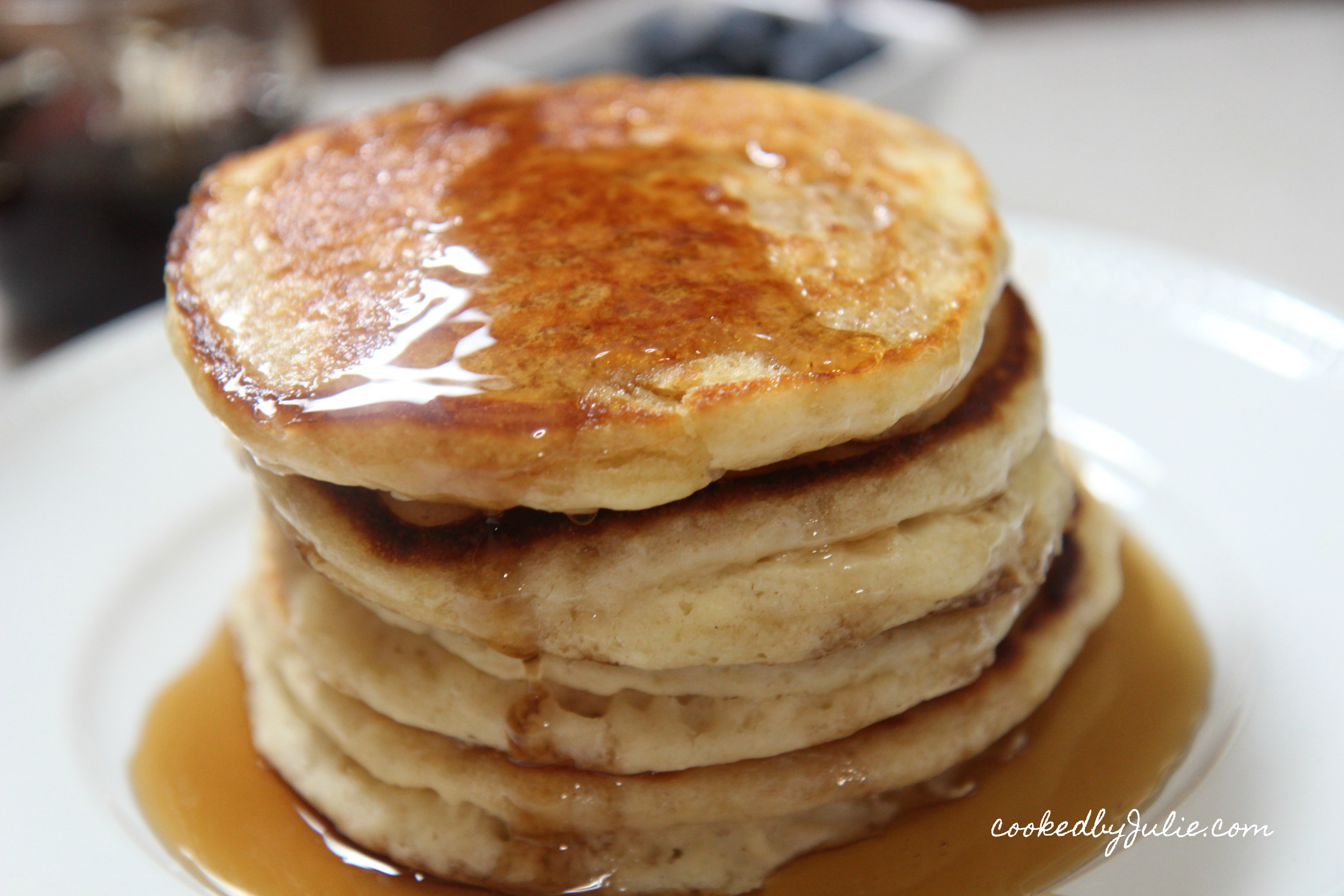 Learn how to make these light fluffy pancakes today.