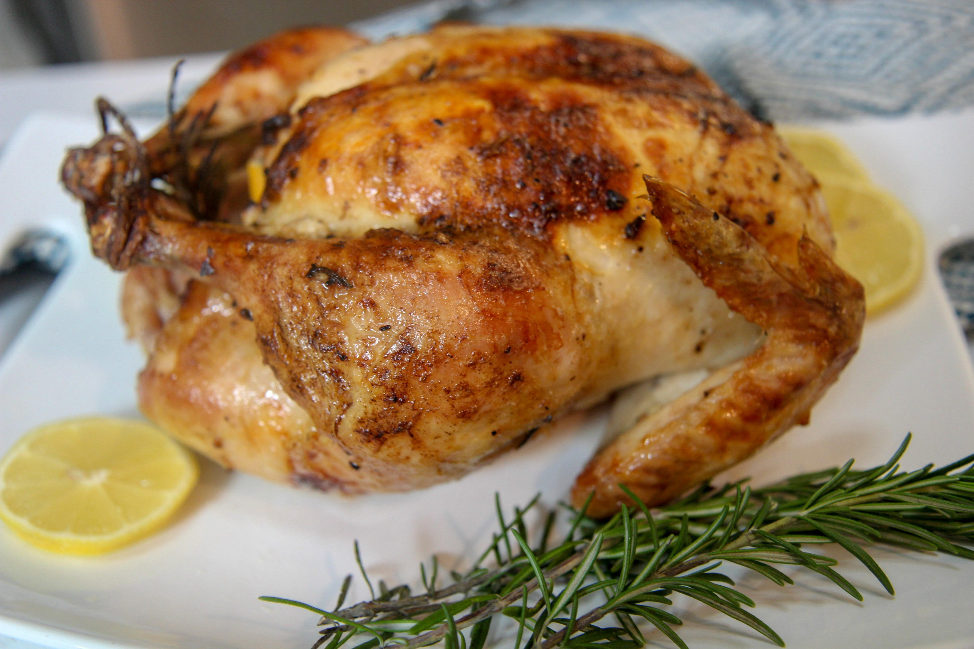 Brined overnight for super flavorful and moist chicken, you'll love this lemon rosemary chicken dinner