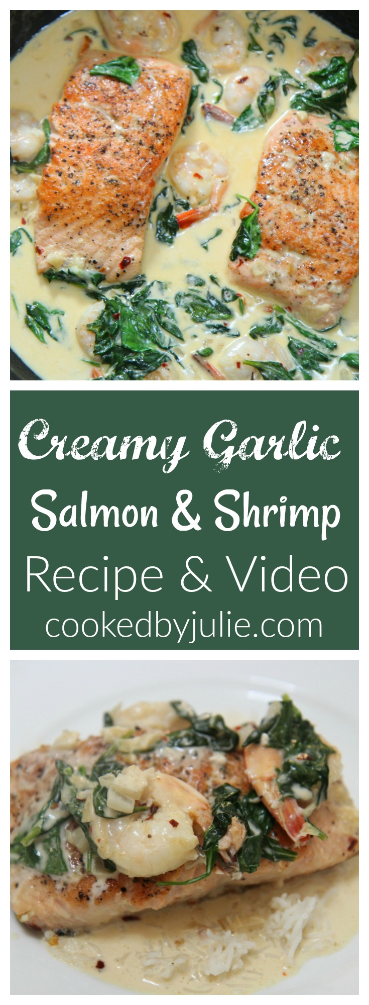 Learn how to make this creamy garlic salmon ad Shrimp through the video posted below. This is a great healthy dinner option.