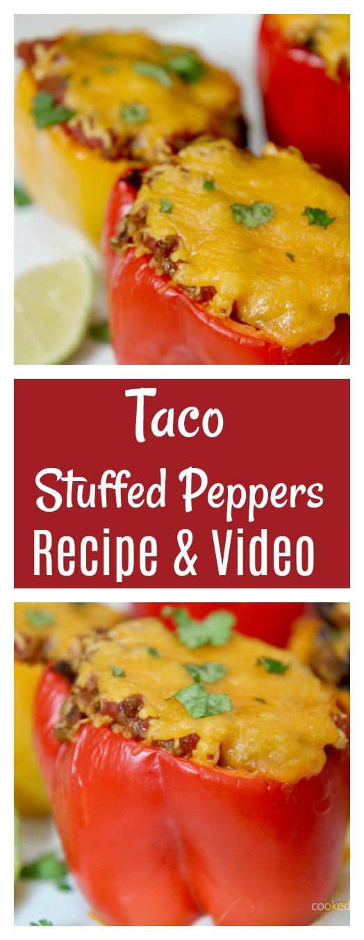 Taco Stuffed Peppers - Recipe and Video from Cooked By Julie