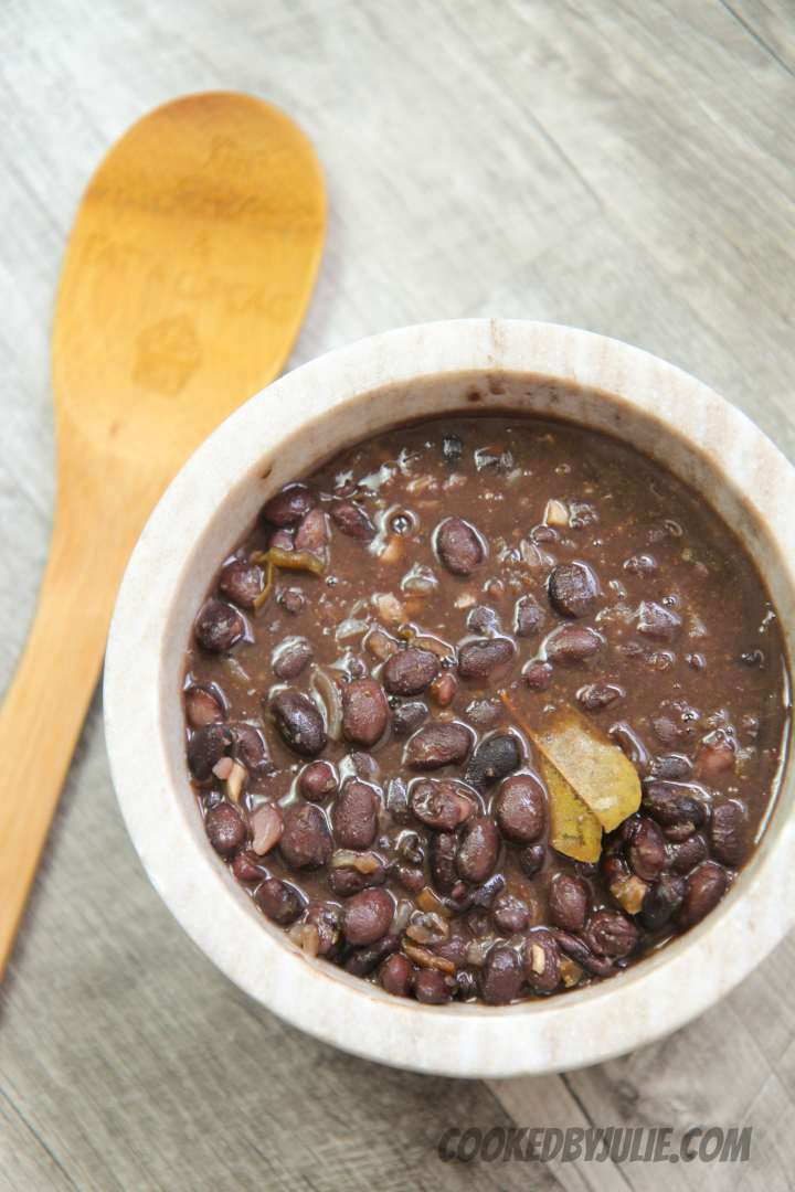 Easy homemade Cuban black beans are a delicious side to any traditional Cuban dish