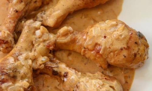 Creamy Baked Chicken Legs
