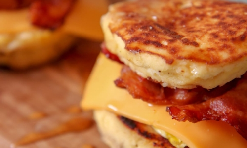 Homemade Mcgriddle Sandwich