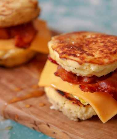 Keto bacon, egg, and cheese Mcgriddle