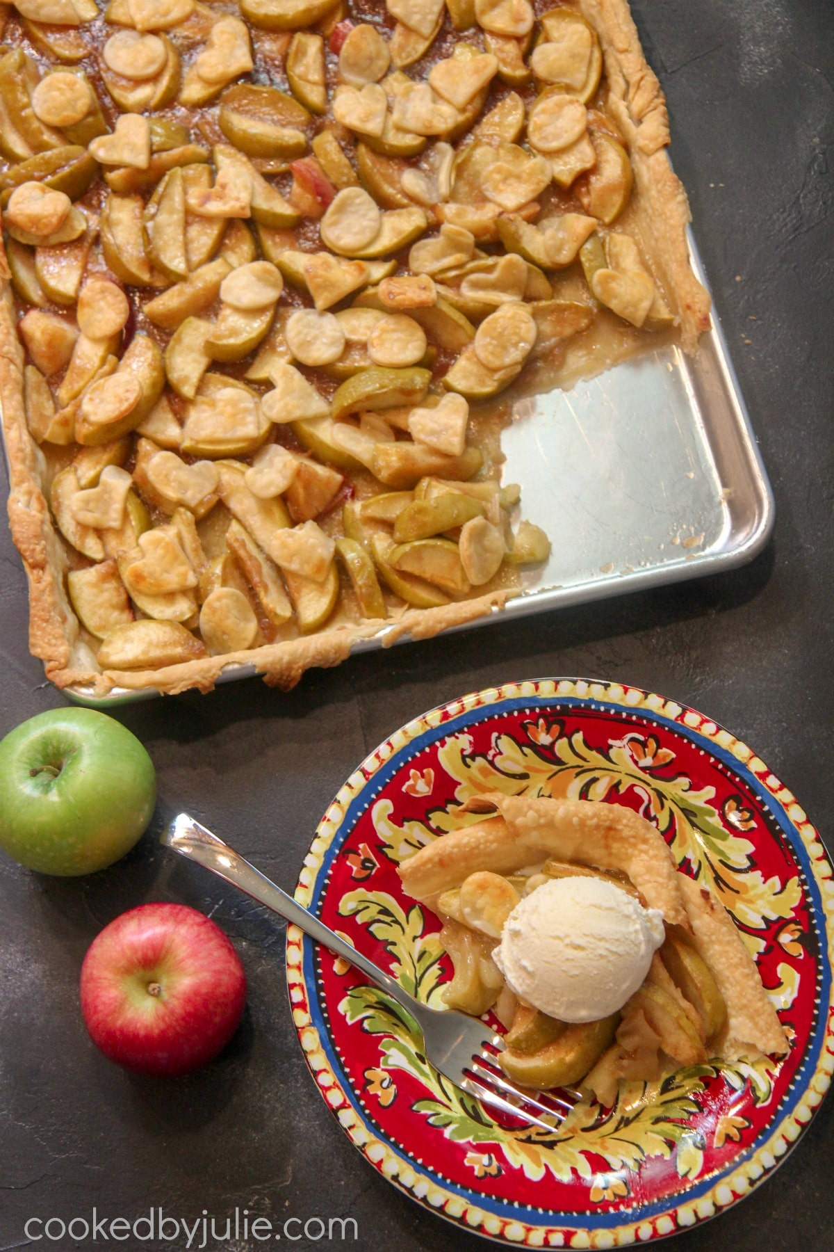 Baked Slab Apple Pie