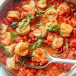 tomato and basil shrimp
