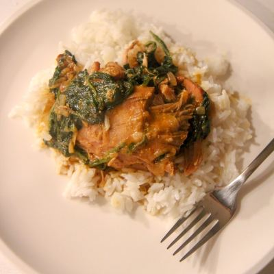 Instant Pot Chicken Curry with Spinach