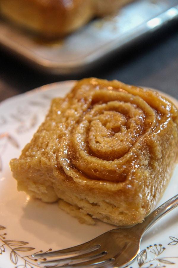 maple bun on a plate