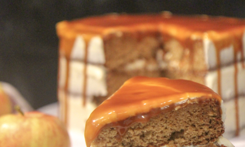 Salted Caramel Apple Cake (with video)