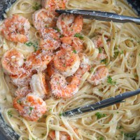 Creamy Shrimp Alfredo Pasta