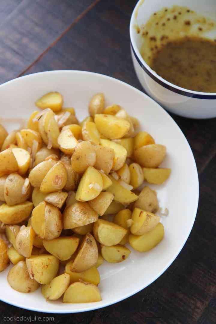 Warm Honey Mustard Potato Salad Recipe