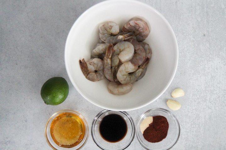 honey chili lime shrimp ingredients.