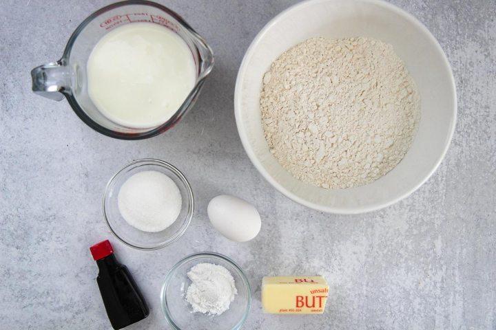 ingredients for silver dollar pancakes.