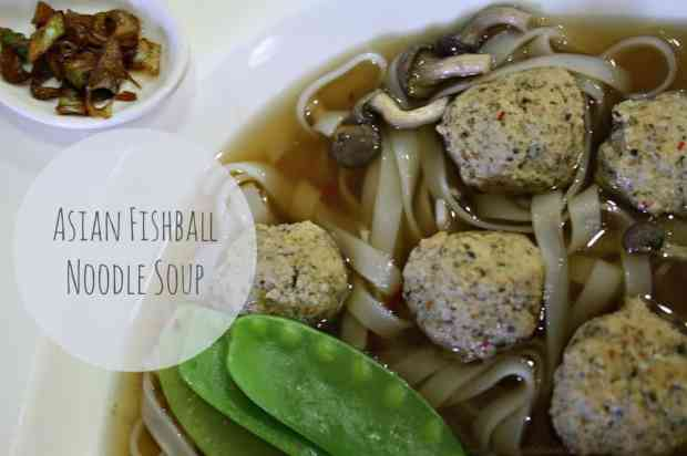 fishballs and noodles in asian broth, fishball noodle soup