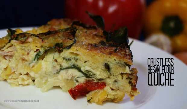 crustless besan flour quiche - Cooker and a Looker