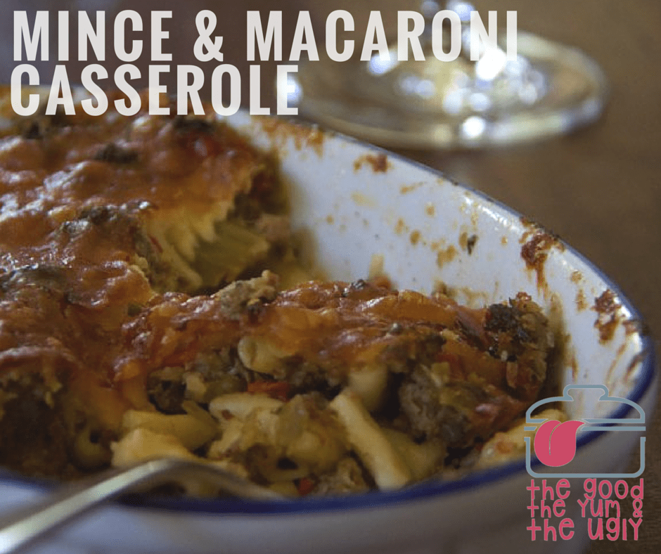 mince and macaroni casserole_ the good the yum and the ugly