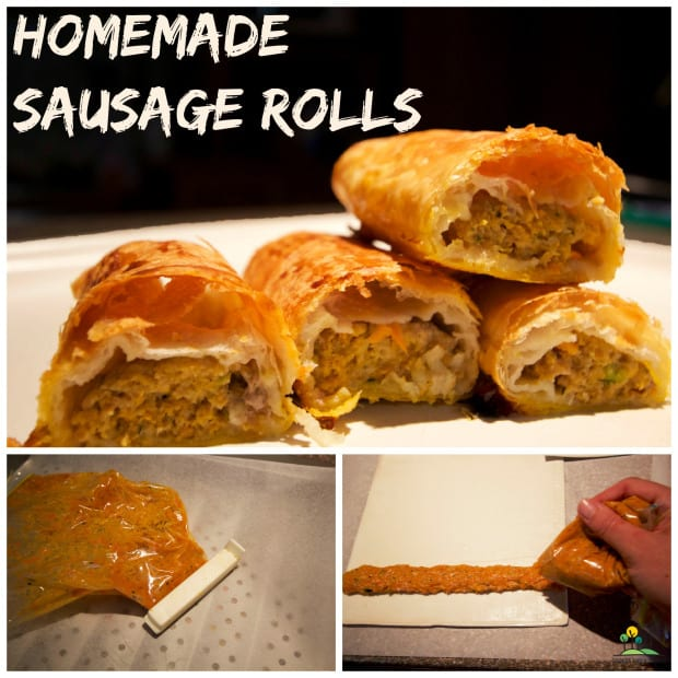 homemade-sausage-rolls-collage