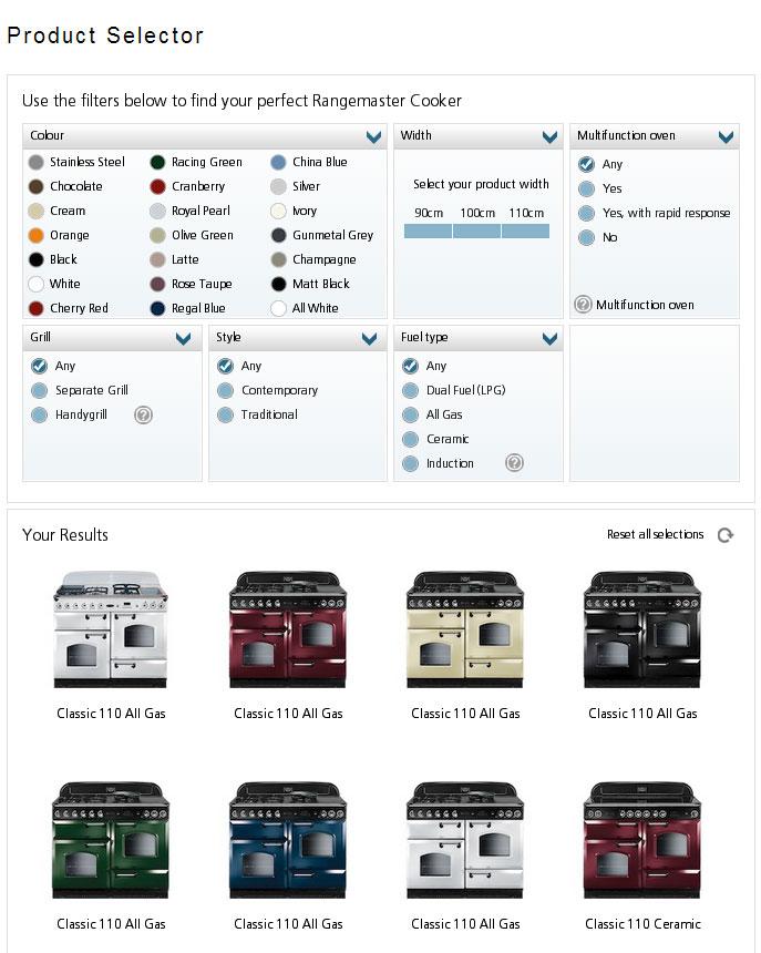 Rangemaster Launches Product Selector Cookersandovens Blog