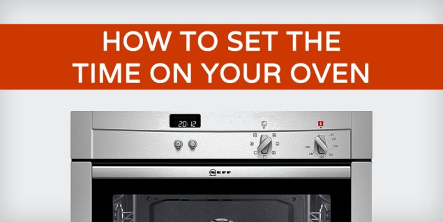 how to set the time on your oven