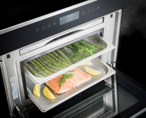 Steam-oven-food