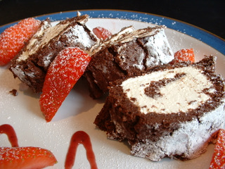 Chocolate roulade recipe