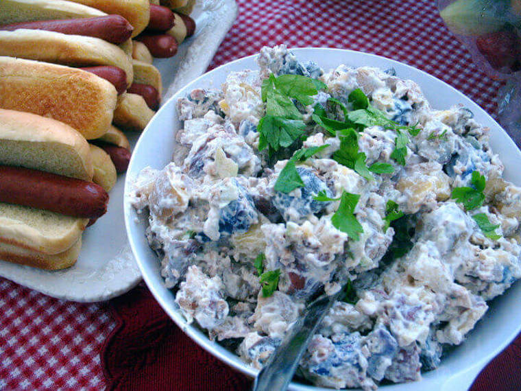 Ranch Red, White, and Blue Potato Salad
